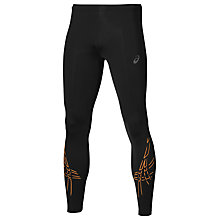 Buy Asics Tiger Stripe Running Tights, Black/Red Online at johnlewis.com