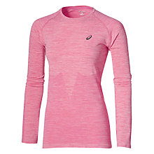 Buy Asics Running Seamless Long-Sleeved Top, Pink Online at johnlewis.com