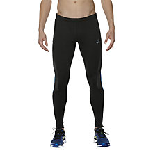 Buy Asics Lite Show Reflective Winter Running Tights, Black/Blue Online at johnlewis.com