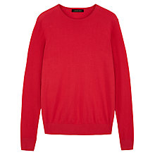 Buy Jaeger Piqué Sweatshirt, Anemone Red Online at johnlewis.com