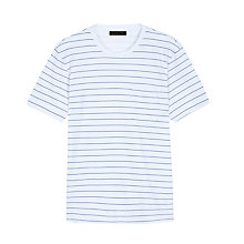 Buy Jaeger Textured Stripe T-Shirt, White/Navy Online at johnlewis.com