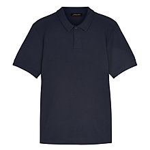 Buy Jaeger Waffle Knit Polo Shirt, Navy Online at johnlewis.com