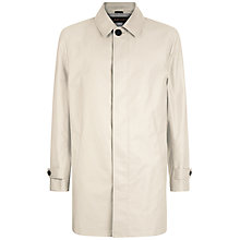 Buy Jaeger Single Breasted City Mac, Stone Online at johnlewis.com