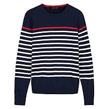 Buy Jaeger Breton Stripe Sweatshirt, Navy Online at johnlewis.com