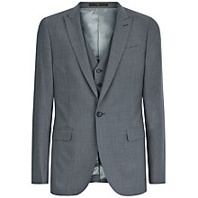 Buy Jaeger Textured Wool Slim Fit Suit Jacket, Air Grey Online at johnlewis.com