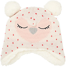 Buy John Lewis Baby Knitted Owl Character Hat, Cream Online at johnlewis.com
