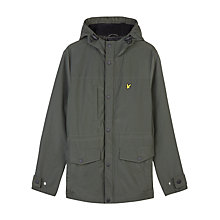 Buy Lyle & Scott Micro Fleece Jacket, Dark Sage Online at johnlewis.com