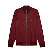 Buy Lyle & Scott Funnel Neck Zip Jumper, Claret Jug Online at johnlewis.com