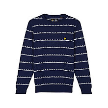 Buy Lyle & Scott Striped Crew Neck Jumper, Navy Online at johnlewis.com