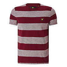 Buy Lyle & Scott Wide Stripe T-Shirt, Claret Jug Online at johnlewis.com