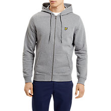 Buy Lyle & Scott Zip Through Hoodie, Mid Grey Marl Online at johnlewis.com