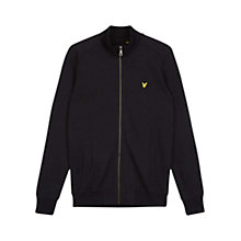 Buy Lyle & Scott Long Sleeve Tricot Jacket, True Black Online at johnlewis.com