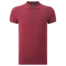 Buy Diesel Slim Fit T-Yahei Polo Shirt, Tawney Red Online at johnlewis.com