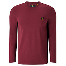 Buy Lyle & Scott Long Sleeve T-Shirt, Claret Jug Online at johnlewis.com