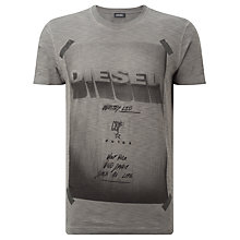 Buy Diesel T-Diego-HN Print T-Shirt, Black Online at johnlewis.com