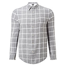 Buy Diesel Slim Fit S-Tas Check Shirt, Bright White Online at johnlewis.com