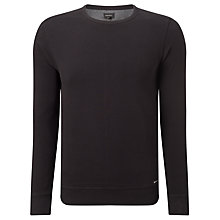 Buy Diesel S-Willard Felper Stripe Crew Neck Jumper, Black Online at johnlewis.com