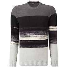 Buy Diesel L-Baccanalis Stripe Jumper, Black Online at johnlewis.com
