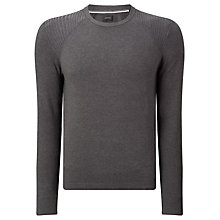 Buy Diesel K-Bonis Crew Neck Jumper, Charcoal Online at johnlewis.com