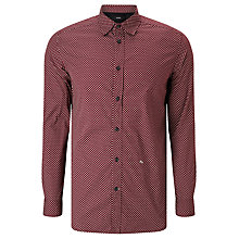 Buy Diesel S-Pink Print Shirt, Tawny Red Online at johnlewis.com