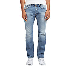 Buy Diesel J Waykee Regular Straight Jeans, Light Wash 0842H Online at johnlewis.com