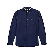 Buy Lyle & Scott Long Sleeve Oxford Shirt, Navy Online at johnlewis.com