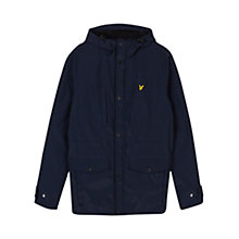 Buy Lyle & Scott Micro Fleece Lined Jacket, Navy Online at johnlewis.com