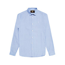 Buy Lyle & Scott Long Sleeve Diagonal Shirt, Riviera Blue Online at johnlewis.com