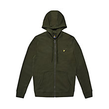 Buy Lyle & Scott Zip Through Hoodie, Dark Sage Online at johnlewis.com