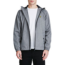 Buy Lyle & Scott Zip Through Hooded Jacket, Grey Online at johnlewis.com