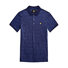 Buy Lyle & Scott Space Dye Oxford Polo Shirt, Navy Online at johnlewis.com