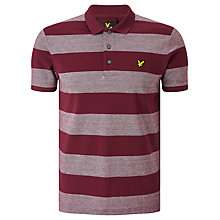 Buy Lyle & Scott Block Stripe Polo Shirt, Claret Jug Online at johnlewis.com