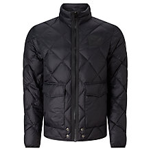 Buy Diesel Spill Quilted Jacket, Black Online at johnlewis.com