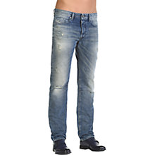 Buy Diesel Buster Jeans, Mid Wash Distressed Online at johnlewis.com