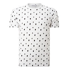 Buy Selected Homme Three All-Over Print Short Sleeve T-Shirt, White Online at johnlewis.com
