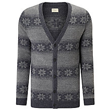 Buy Selected Homme Xmas Cardigan, Grey Online at johnlewis.com
