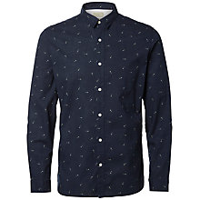 Buy Selected Homme Arrow Print Shirt, Blueberry Online at johnlewis.com