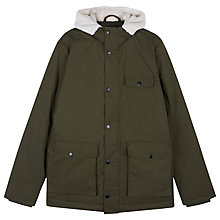 Buy Lyle & Scott Heavy Weight Down Jacket, Dark Sage Online at johnlewis.com