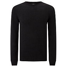 Buy Selected Homme SHX Busk Crew Neck, Black/Grey Melange Online at johnlewis.com
