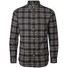 Buy Selected Homme Check Cotton Shirt, Black/Grey Online at johnlewis.com