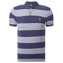 Buy Lyle & Scott Block Stripe Polo Shirt, Navy Online at johnlewis.com