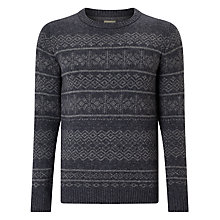 Buy Selected Homme Crew Neck Pattern Jumper, Grey Online at johnlewis.com