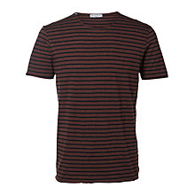 Buy Selected Homme Monte Stripe Short Sleeve T-Shirt Online at johnlewis.com