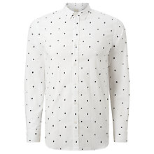Buy Selected Homme One Tree Long Sleeve Shirt, White Online at johnlewis.com