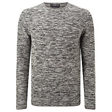 Buy Selected Homme Knitted Crew Neck Sweater, Grey Melange Online at johnlewis.com