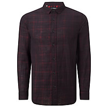 Buy Selected Homme Shx Maron Checked Shirt, Black/Red Online at johnlewis.com