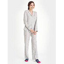 Buy Joules Snow Print Pyjama Set, Grey Online at johnlewis.com