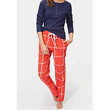 Buy Joules Snooze Check Pyjama Bottoms, Red Online at johnlewis.com