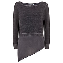 Buy Mint Velvet Mercury Asymmetric Shirt Tail Jumper, Grey Online at johnlewis.com