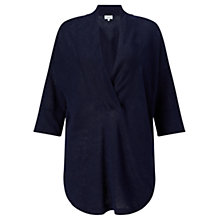 Buy Jigsaw Linen V Neck Tunic Top Online at johnlewis.com